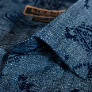 Lipson Sport Contemporary Fit Chambray Paisley